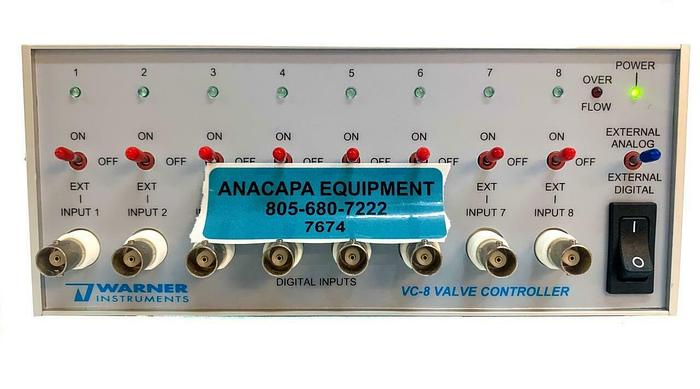 Used Warner Instruments Harvard Apparatus VC-8 Perfusion Valve Controller (7674) W