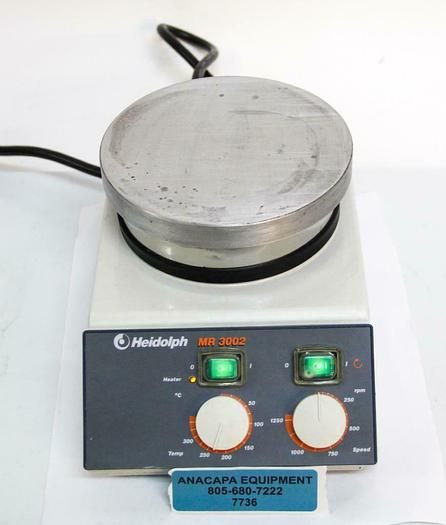 Used Heidolph MR 3002 S Magnetic Stirrer W/ Heating Plate, 115V 504-20100-01-1(7736)W