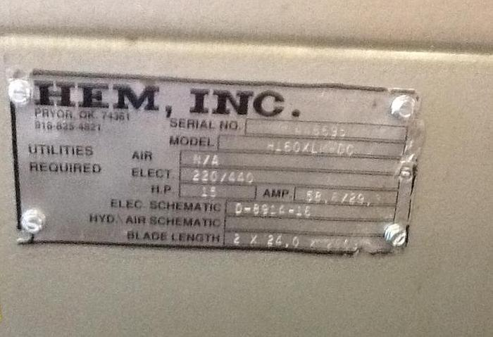 HEM MODEL H160XLM-DC DOUBLE COLUMN HORIZONTAL BAND SAW