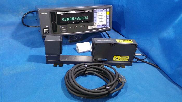 Used Mitutoyo Corp 544-070 Laser Scan Micrometer / Part Code 544-070 / LSM-6100 / 50~60Hz / 30VA / AND With LSM-503H Part Code 544-559 / and Laser Bracket and Cables / MITUTOYO Corp Japan