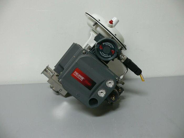 Used Fisher / Baumann 32-84081SA 316L Control Valve + Fieldvue DVC6010F Positioner