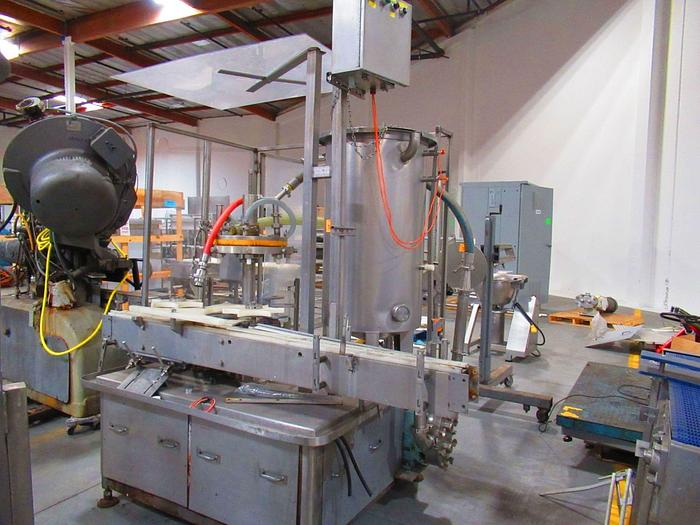 Used Pacific 8 head rotary Filler