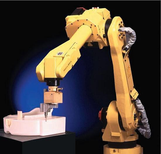 FANUC M16iB/10 6 AXIS CNC ROBOT WITH RJ3iB CONTROLLER 10KG X 1,885 mm REACH WITH AUXILIARY 7TH AXIS DRIVES.