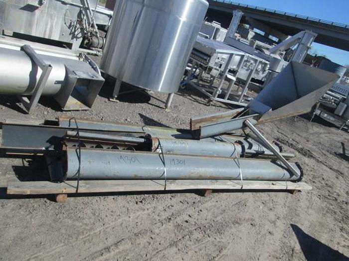 """Used Custom Screw Conveyor; 6""""Wx50'L"""