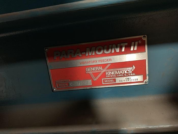GENERAL KINEMATICS TWF42/ 52 X 12 X 22 PARA- MOUNT II FEEDER