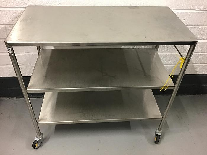 Used Trolley stainless steel 3 shelves 750x450mm