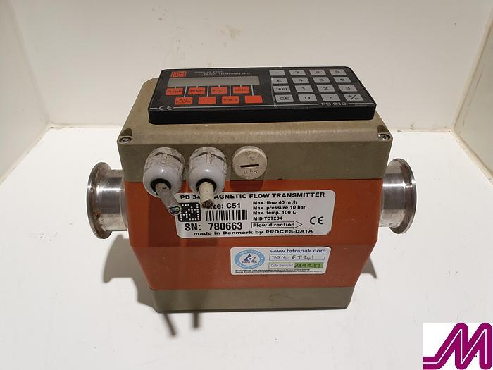 Used Proces Data PD 340 Flow  PD 340 Magnetic Flow Transmitter