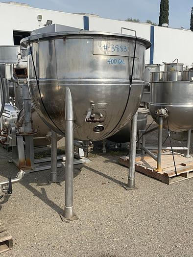 400 Gallon Stainless Steel Jacketed Steam Mix Kettle