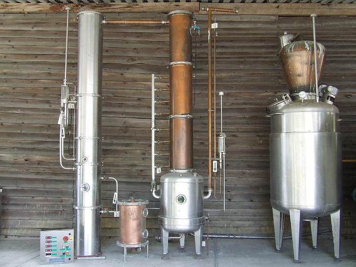 """Używane Urządzenie destylacyjne do produkcji koniaku, winiaku, brandy model """"C27 CADALPE"""""""