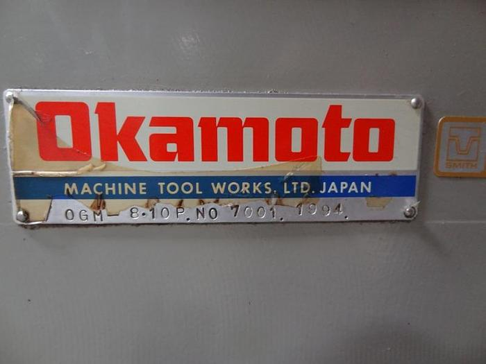 OKAMOTO OGM 8-10P PLAIN PROGRAMMABLE CYLINDRICAL GRINDER