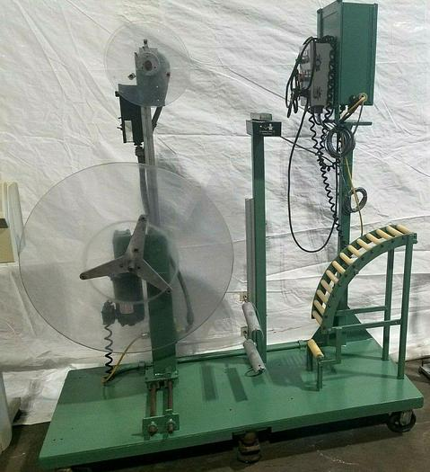 Used Motorized Stock Reel with paper Inter-leaf Material Feed Press Side Stamping