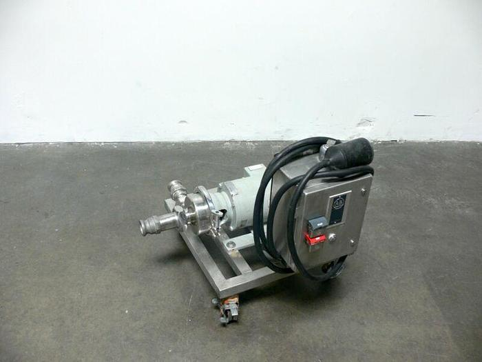 "Used G&H Centrifugal Pump AMMP w/ Allen Bradley Start/Stop Control Panel & 2"" Camlock"
