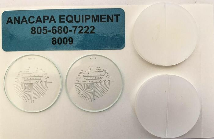 """SPI, 40-245-3 10X Optical Comparator Reticle #5, 1-3/8"""" Lot of 22  New (8009)W"""