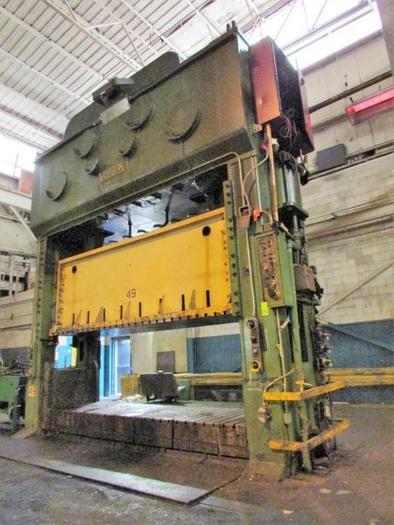 """800 ton Verson 168""""x48"""" SSDC Stamping Press"""