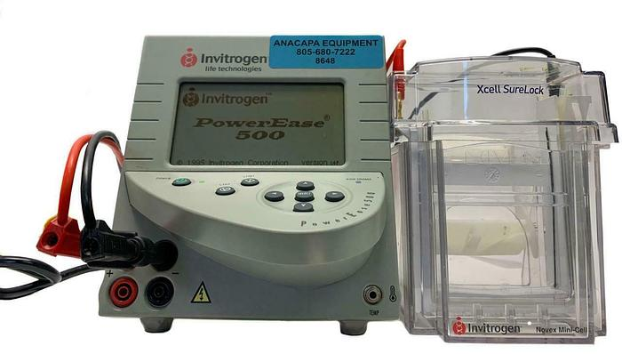 Used Invitrogen PowerEase 500 & XCell Sure Lock Novex Mini-Cell Electrophoresis (8648
