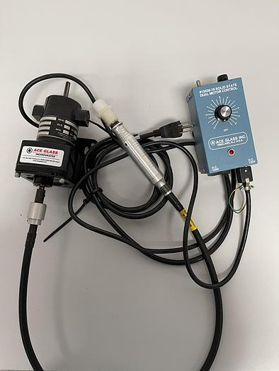 Used Ace Glass Overhead Stirrer & Dual Motor Control  Serial #: 2835