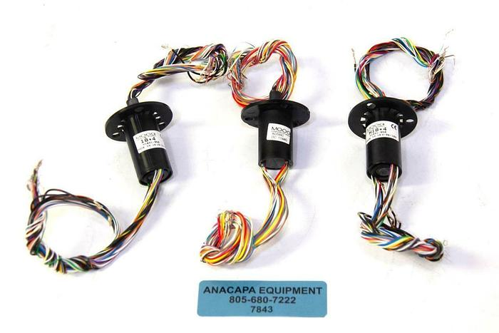 Used Moog Components Group AC6940 & H1841-950 Slip Rings LOT OF 3 USED (7843)R