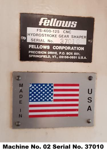 Fellows HydroStroke FS400 - 125 CNC Gear Shaper (Machine No. 2)