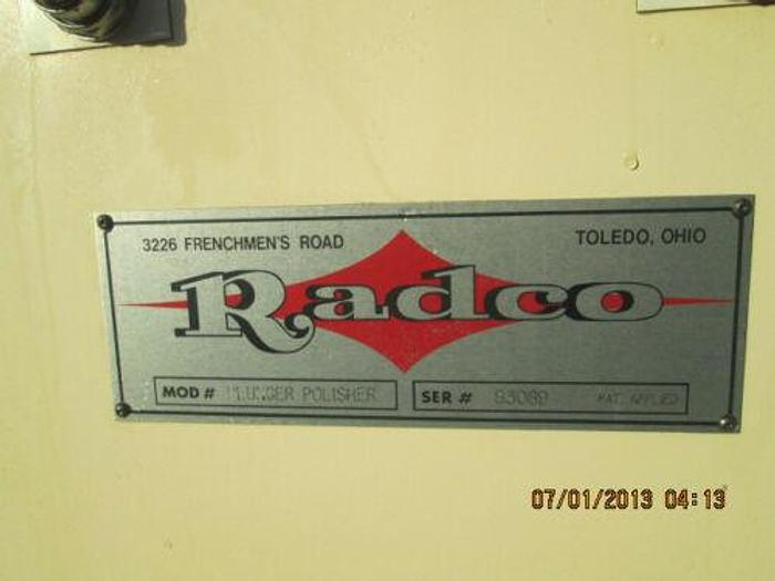RADCO (SONICAM) GLASS BLOW PLUNGER POLISHING MACHINE FOR GLASS MOLDS, ETC.