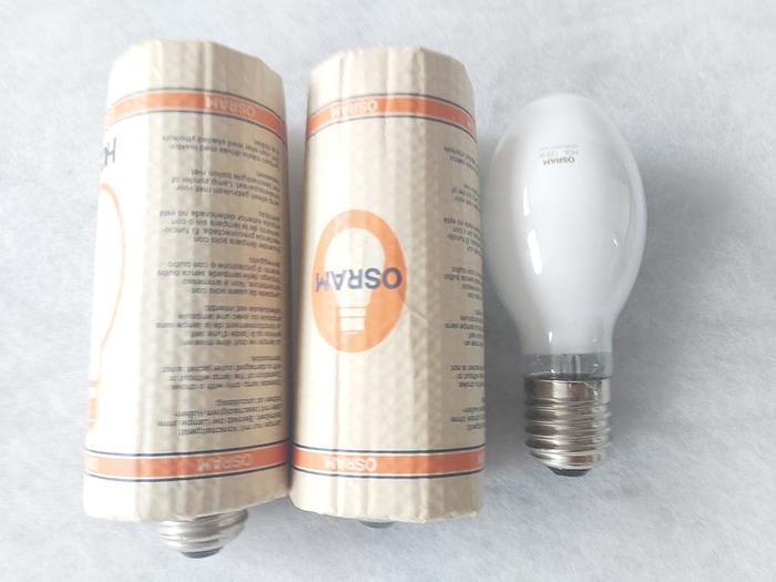 3 Stück Metalldampflampen HQL 125W, E40, Osram,  neu