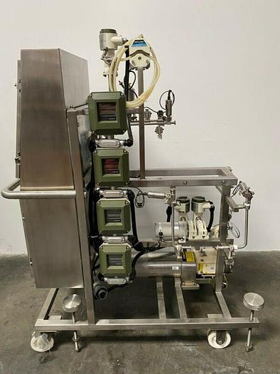 Used Millipore Tangential Flow Filtration System Skid w/ Waukesha 015 Pump & More