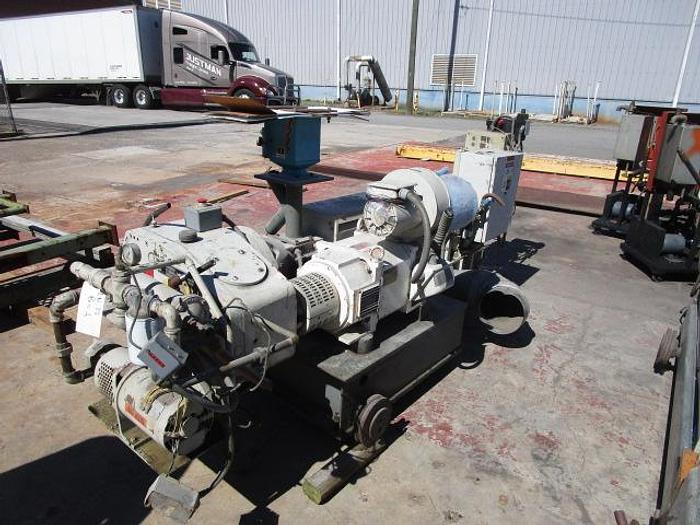 """Used 2 1/2"""" 30il L/D GEC Contra Cool Extruder with hydraulic screen changer 75HP AC"""
