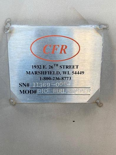 CFR-Rice Hull Hopper Tank 36 Cu Ft.