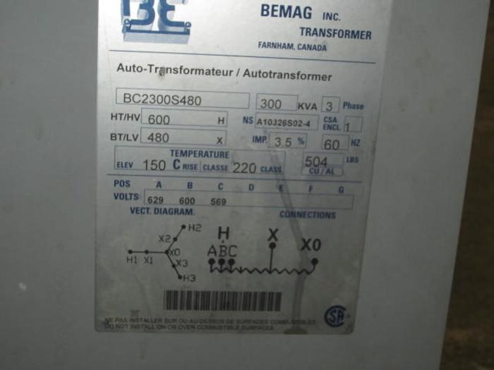 Bemag 300KVA 5483