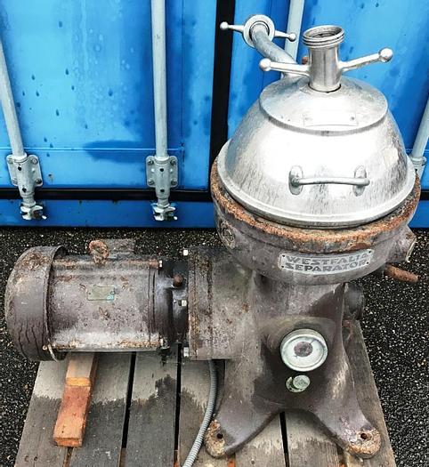 Used Westfalia ZmDD 1256 centrifugal mixer unit