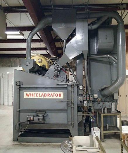 "Very good 1965 Wheelabrator 48"" Swing Table"