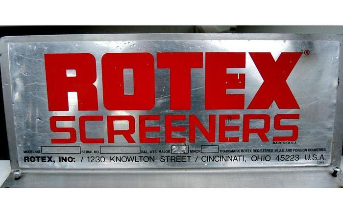 "USED ROTEX RECTANGULAR SCREEN, 40"" X 84"", SINGLE DECK, STAINLESS STEEL, SANITARY"