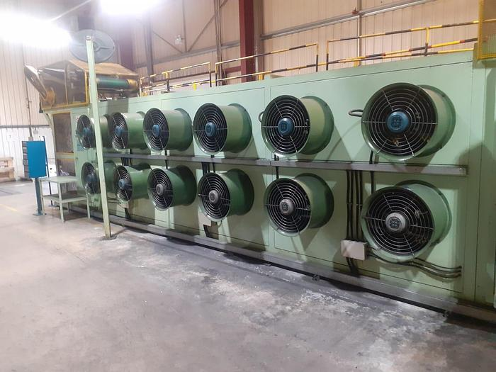 Used 2008 Datong Slab cooling unit  (tunnel type batch off)