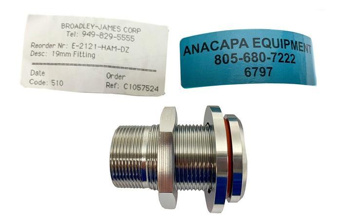Broadley-James E-2121-HAM-DZ 19mm Fitting Applikon (6797) W