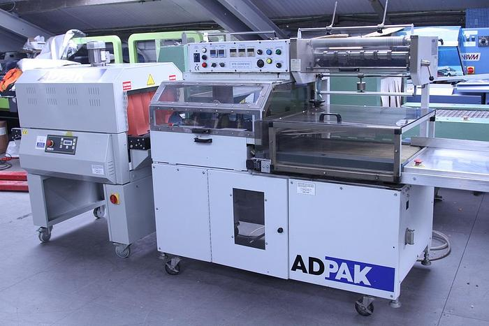 Used Adpak EFK250 Automatic L-Sealer with  Heat Tunnel