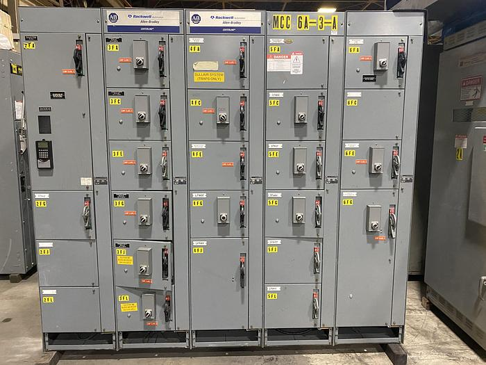Used ROCKWELL AUTOMATION ALLEN BRADLEY CENTERLINE SERIES MCC SECTION