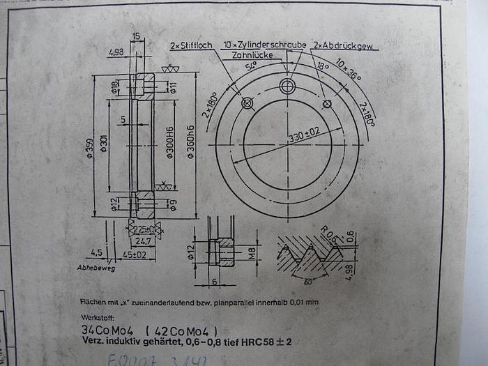 Spannzylinder VDF BOEHRINGER neu N 100 2952