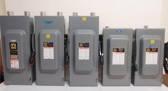 Used Square D H323N H362N D323N Heavy Duty Enclosed Switches Lot of 5 (4416)