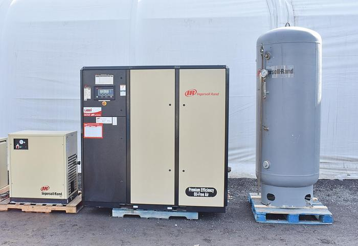 Used NIRVANA IRN50H-OF VARIABLE SPEED OIL-FREE ROTARY SCREW AIR COMPRESSOR PACKAGE