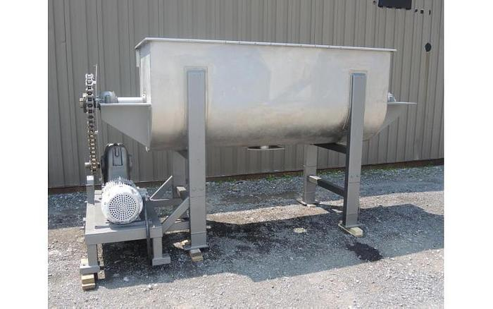 USED RIBBON BLENDER, 60 CUBIC FEET, DOUBLE RIBBON, STAINLESS STEEL
