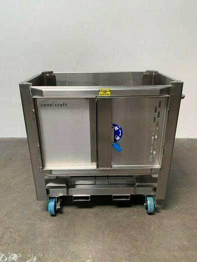 Used ConeCraft 500 Liter Stainless Steel BioReactor Bin Cat# 400111