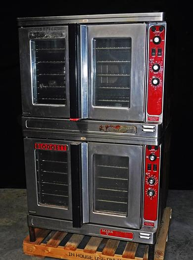 Used BLODGET ELECTRIC DOUBLE-STACKED CONVECTION OVEN, MODEL MARK-V-III