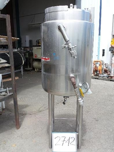 50 Gallon Vertical Stainless Steel Jacketed Tank