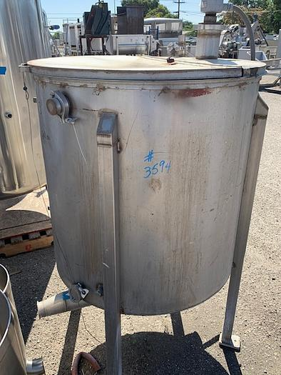 150 Gallon Vertical Stainless Steel Tank