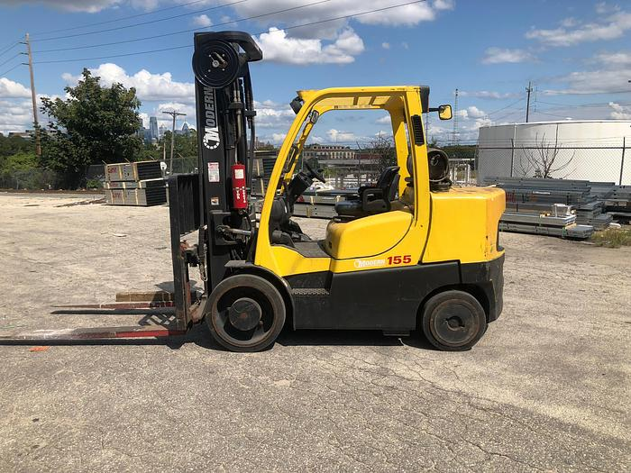 Used 15,500 POUND HYSTER MODEL S155FT W/ SIDESHIFT MFG. 2008