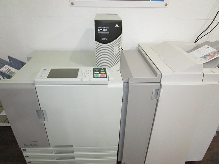 Riso ComColor 7050R Full Color Inkjet Printer with IS900C RIP Controller and Booklet Maker Finisher