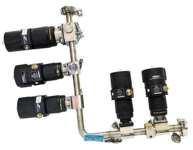 Used ITT Pure-FLO 5 Diaphragm Valve Manifold, Westlock Controls S-7699-CL-I-.5 (6757W