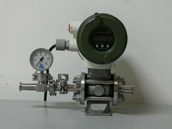 """Used ADMAG CA CA115SN Magnetic Flowmeter w/ 3/4"""" Sanitary Fittings & Anderson Gauge"""