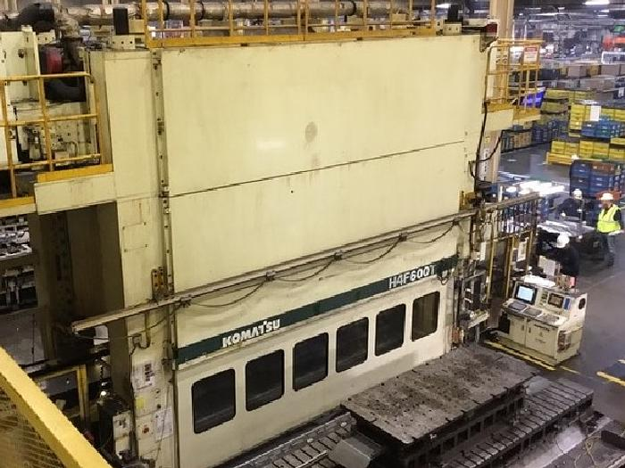 """Used 600 ton Komatsu 196""""x62"""" Servo Drive Stamping Press"""