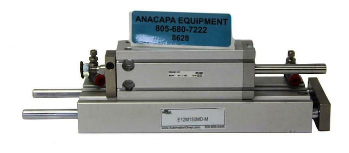 Used Nitra E12M150MD-M Pneumatic Air Cylinder & SMC ZCDUKQ20-50D Actuator (8628)W