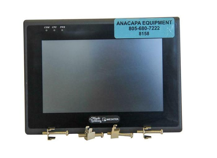 """Used Maple Systems HMI5070NH Operator Display 7"""" Touch LCD Widescreen USED (8158)W"""